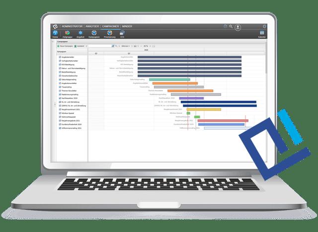 Screenshot von unserer AIC Group - Marketing Automation Plattform